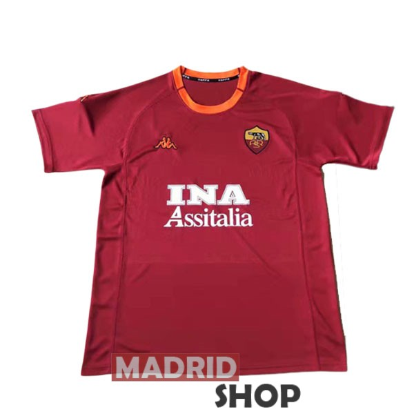 camiseta as roma retro 2000-2001 local