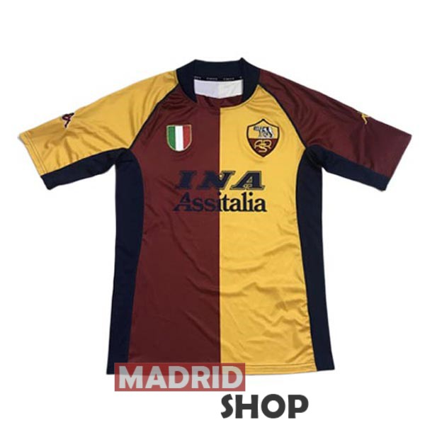 camiseta as roma retro 2001-2002 local