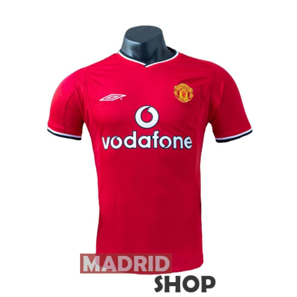 camiseta manchester united retro 2000-2001 local