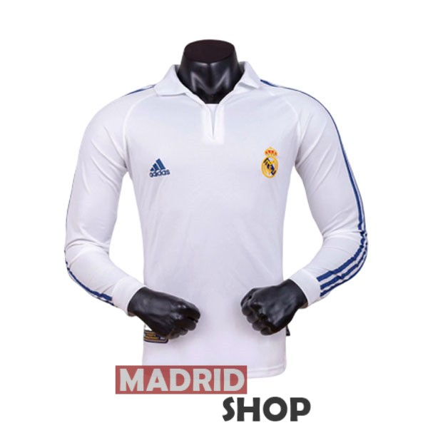 camiseta real madrid manga larga local retro 2001-2002