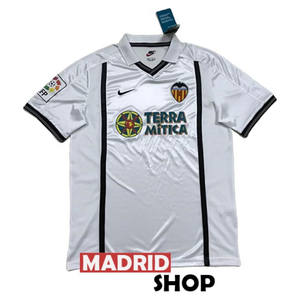 camiseta valencia retro 2000-2001 local