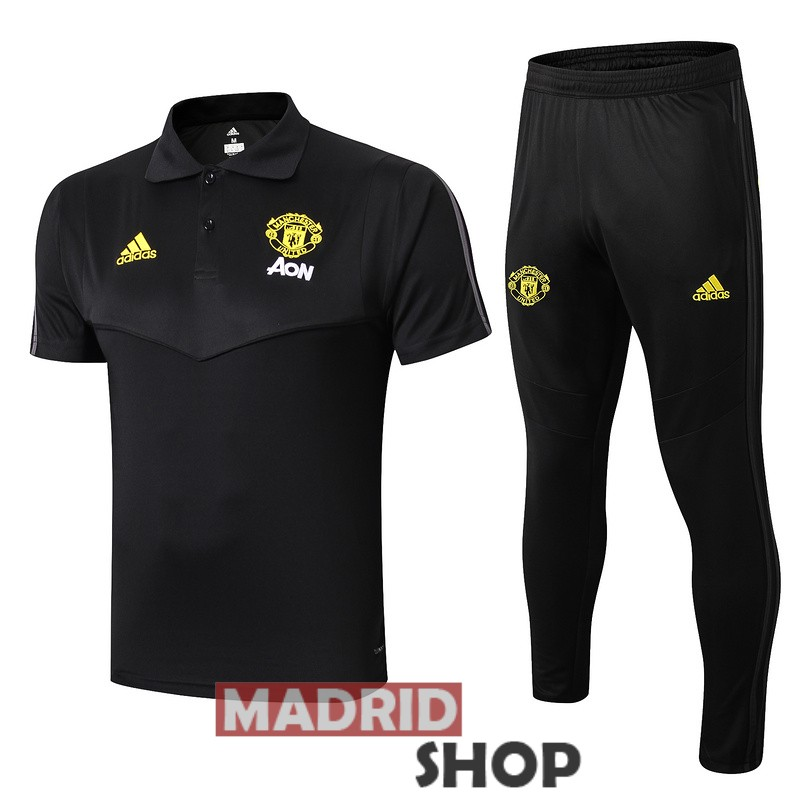formacion manchester united negro 2019-2020 polo traje [MADRIDSHOP191]