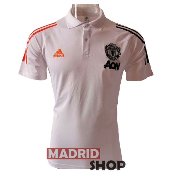 polo manchester united blanco 2020-2021